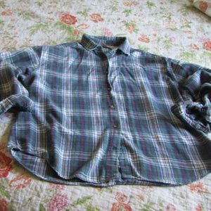 Vintage 90s Grunge Plaid Flannel Shirt